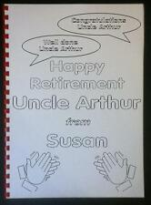 Personalised RETIREMENT COLOURING BOOK (A4):~  Fun Gift Present ~ Topsa Card!