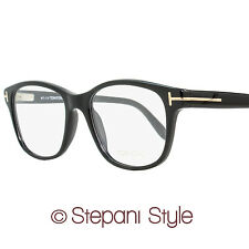 Tom Ford Rectangular Eyeglasses TF5196 001 Size: 53mm Shiny Black FT5196