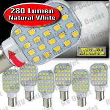 6 pk 1156 / 1141 Base LED Replacement Bulb 280 LUM 10-24v Natural White