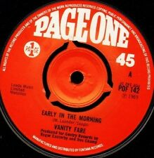 "VANITY FARE early in the morning/you made me love you POF 142 page one 7"" WS EX/"