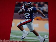 DEXTER McCLUSTER OLE MISS REBELS SIGNED 8X10 FOOTBALL PHOTO GLOBAL CERTIFIED