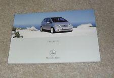 Mercedes A Class Brochure 2004 - A160 CDI A170 CDI A140 A160 Avantgarde Classic