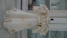 Stunning genuine antique french doll dress in ivory Jumeau Steiner Bru