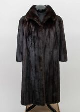 Furs by Michael Valente Brown Mink Fur Coat for Women Full-Length Size M/L