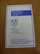 25/10/1969 Millwall v Sheffield United  . Thanks for viewing our item, when list