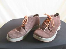 Chaco Brown Suede Orange Lace Up Ankle Boots/Walking Comfort Shoes Womens Size 6