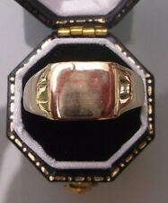 Men's/Women's 9ct Gold Signet Ring Size U 1/2 Weight 2.8g Stamped Quality