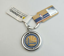 NBA NIB SPINNING LOGO KEY CHAIN FOREVER COLLECTIBLES - GOLDEN STATE WARRIORS