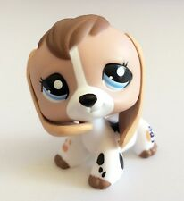 Littlest Pet Shop Puppy Dog White Black Tan Blue Eye Cow Print Baby Beagle #2207
