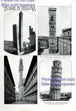 Towers of tuscany 1 page with photographic images leaning tower of pisa Italy