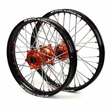 "KTM 350 SX-F SX-F350 2015 2016 Wheels Set Black Orange 19"" 21"" Rims"