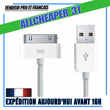cavi USB iPhone 4 4S 3GS 3 iPad 2 3 4 Ipod Touch Nano 30 Broches