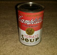 Vintage 125th anniversary Campbell's tomato soup can piggy bank