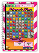 CANDY CRUSH FAN! PERSONALISED A5 NOTEBOOK/50 LINED PAGES/ CANDY CRUSH GIFT