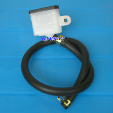 Motorcycle Rear Brake Fluid Reservoir Square Bottle with Hose For Yamaha Honda