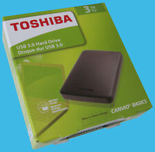 New Toshiba Canvio Basics 3TB Portable External HD / Hard Drive -USB 3.0