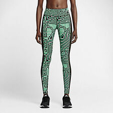 NIKE EPIX LUX PRNTED RUNNING TIGHTS EMERALD,BLACK 686038-348 WOMENS SIZE SMALL