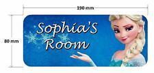 Frozen Elsa Princess 2 Personalised Childrens Bedroom Door Plaque Sign Girls