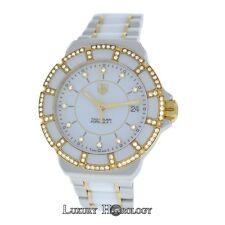 Mint Ladies Tag Heuer Formula 1 WAH1221 Steel Gold Diamonds Ceramic Quartz Watch