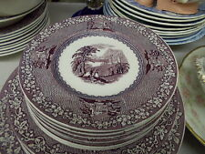 "8 Royal Staffordshire Lavender/Mulberry ""JENNY LIND"" Bread & Butter Plates"