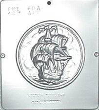 Ship on Plaque Chocolate Candy Mold  567 NEW