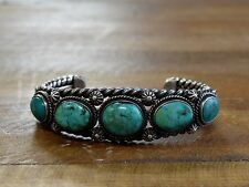 Vintage Turquoise Sterling Silver Cuff Bracelet by Gary Reeves