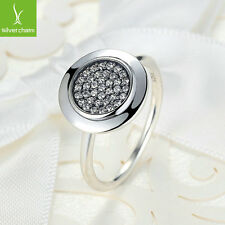 New Design Pave CZ Shape Finger Ring With High Silver Crystal Fashion Jewelry