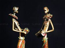 AFRICAN FIGURINES TRIBE DRUMS PHOTO ART PRINT POSTER PICTURE BMP1221A
