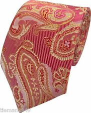 Mens Formal French Paisley Floral Neck Tie with optional Matching Hanky