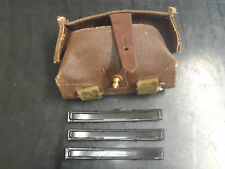 SOVIET RUSSIAN SKS SKK AK47 MOSIN NAGANT AMMUNITION POUCH WITH 3 STRIPPER CLIPS