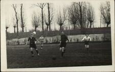 Boys Playing Soccer Unidentified Amateur Real Photo Postcard rpx
