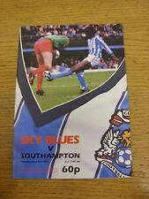 09/05/1987 Coventry City v Southampton  (Excellent Condition)