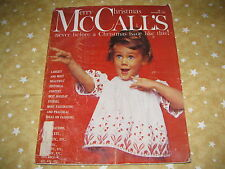 * December 1960 vintage MCCALLS womens magazine CHRISTMAS -  GREAT ADS