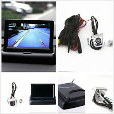 "Foldable 4.3"" Display Monitor+Car License Screw Reverse Front/Rear View Camera"