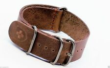 zulu watch strap Military g10 band Vintage 18/20/22/24mm leather Handmade