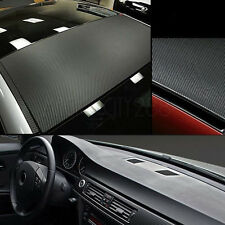 "3D 12""x50"" Black Carbon Fiber Vinyl Car DIY Wrap Sheet Roll Film Sticker Decal"