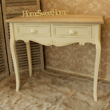 cream french wooden painted console dressing table hall home furniture country