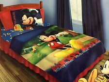 BRAND NEW OFFICIAL DISNEY MICKEY MOUSE 4 PIECES TWIN BED SET