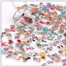 Wholesale 100pcs Mix Floating Charms For Glass Living Memory Colorful Locket