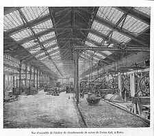 PARIS EXPOSITION UNIVERSELLE WORLD FAIR 1889 ETS CAIL CHAUDRONNERIE GRAVURE