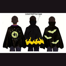 Spooky Stuff Kids Hell Flames Demon / Witch / Vampire Halloween Costume Cape