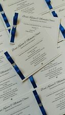 50 A6 handmade wedding/evening postcard invitations, more colours available!