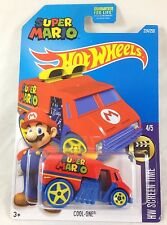Hot Wheels Super Mario Bros Cool-One HW Screen Time 4/5 NES Retro 2016 C Case