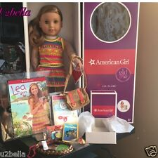 American Girl Doll LEA CLARK with Pierced Ears & ACCESSORIES NEW