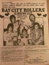 Bay City Rollers, Full Page Vintage Ad, Kissing Kit