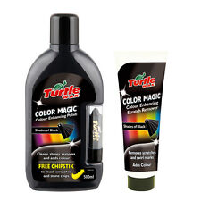 Turtle Wax Colour Magic Car Polish Wax Restorer + Scratch Remover Set - BLACK