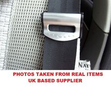 PACK OF 2 CAR SEAT BELT COMFORT STRAP ADJUSTERS/SUPPORTS/CLIPS SAFETY AID-SILVER
