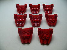 Lego 8 petits cockpits rouges set 5591 6388 6351 6657 / 8 red wedge inverted
