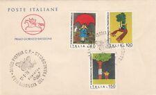 Italia 1976 FDC 1349-51 18° giornata del francobollo  MNH