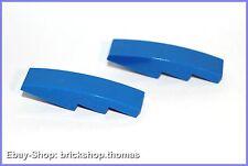 Lego 2 x Dachstein Bogen blau (4 x 1) - 61678 - Slope Curved blue - NEU / NEW